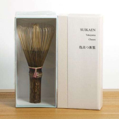 Takayama Chasen Black Bamboo Whisk - Foaming Chasen main