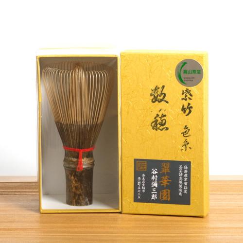 Takayama Chasen Black Bamboo Whisk Kazuho (70 prongs) main