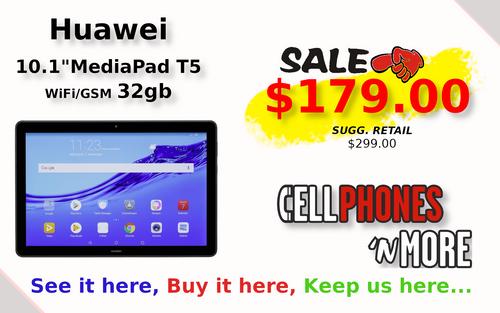 """MediaPad T5 10.1"""" 32gb Wifi/LTE"""