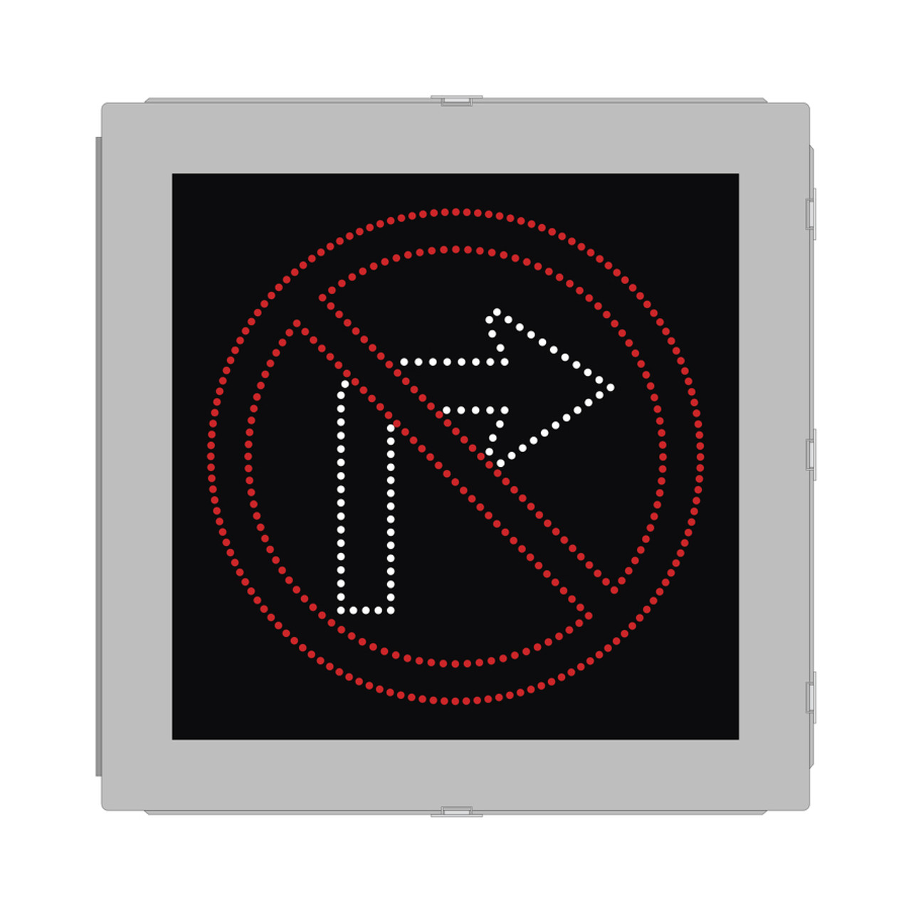 R3 2 Sign >> No Right Turn Led Blank Out Lane Control Fhwa Mutcd Sign R3 1
