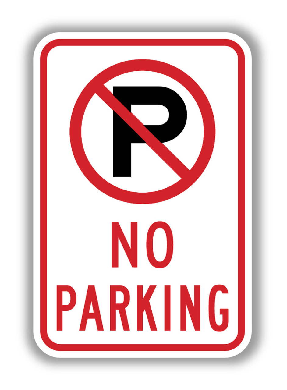 No Parking Any Time With Double Arrow Aluminum METAL Sign