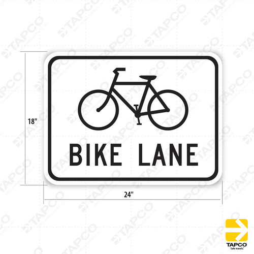 R81 Ca Bike Lane Bicycle Symbol Sign Pedestrian And Bicycle Signs Tapco