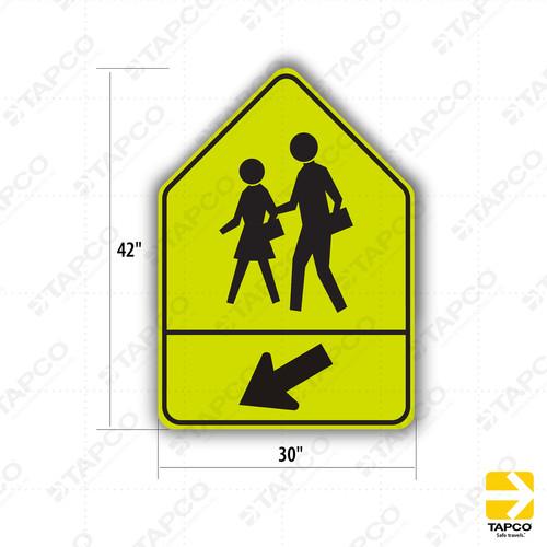 Sw24 3 Ca School Crosswalk Ahead Symbol Sign Special Warning Signs Sw Tapco