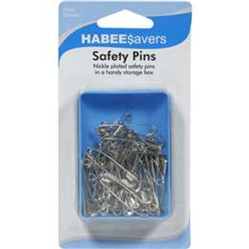 Safety Pins - 50 Pieces 38mm Nickle
