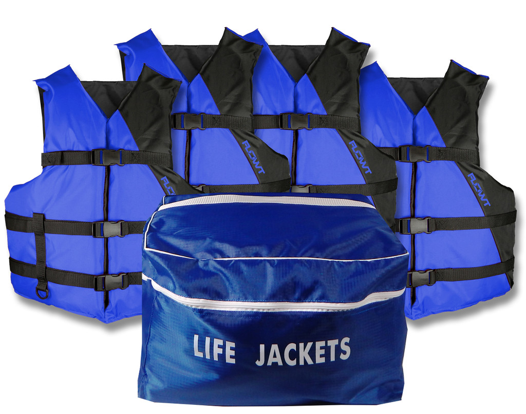 4 Universal Adult Life Vets with storage bag