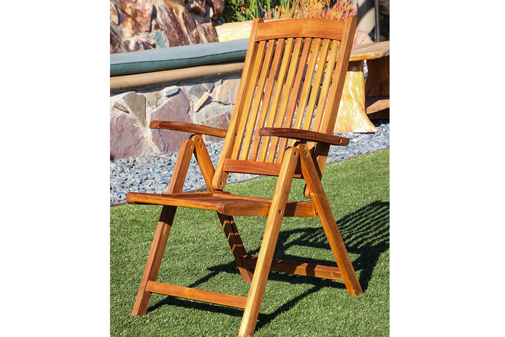 SeaTeak Avalon Folding Multi-Position Deck Chair w/arms- Oiled Finish  sc 1 st  Waterbrands & Buy Teak Folding Multi-Position Deck Chair- Oiled Finish | WaterBrands