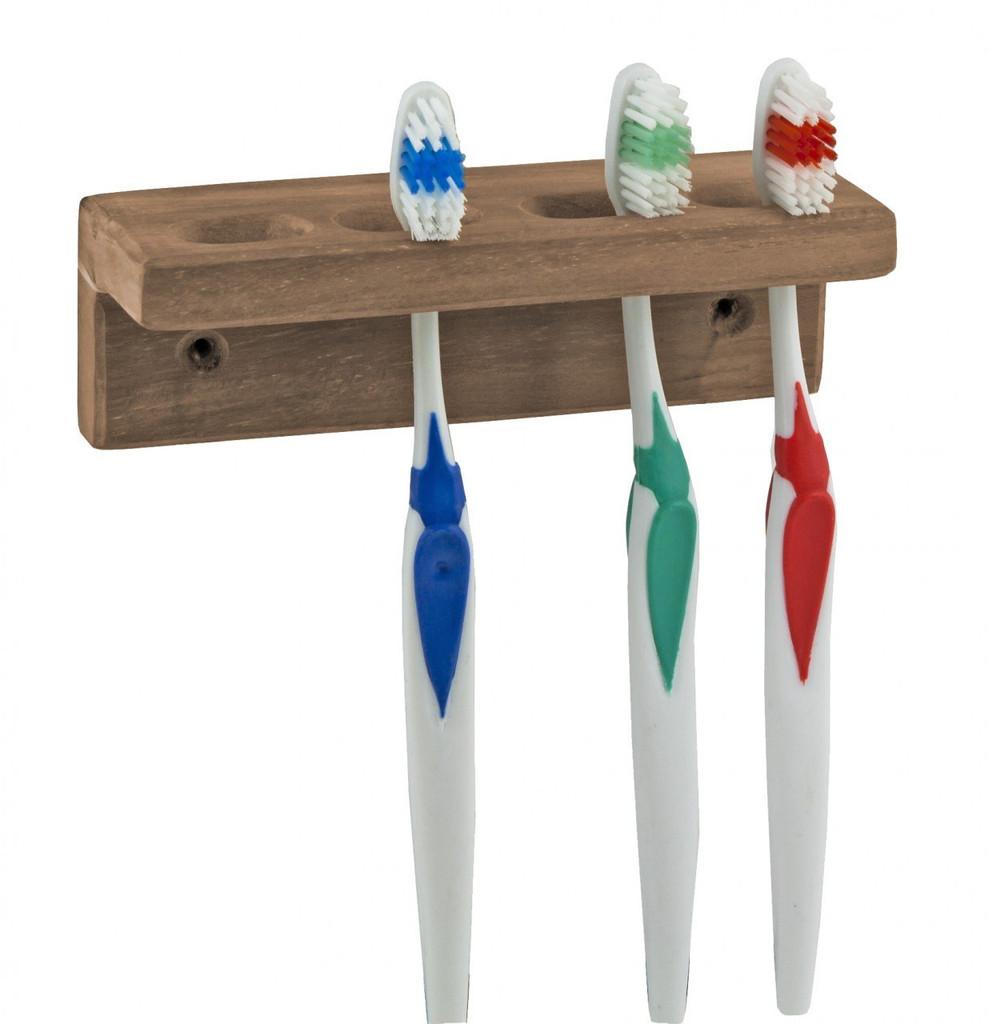 Teak Toothbrush Holder