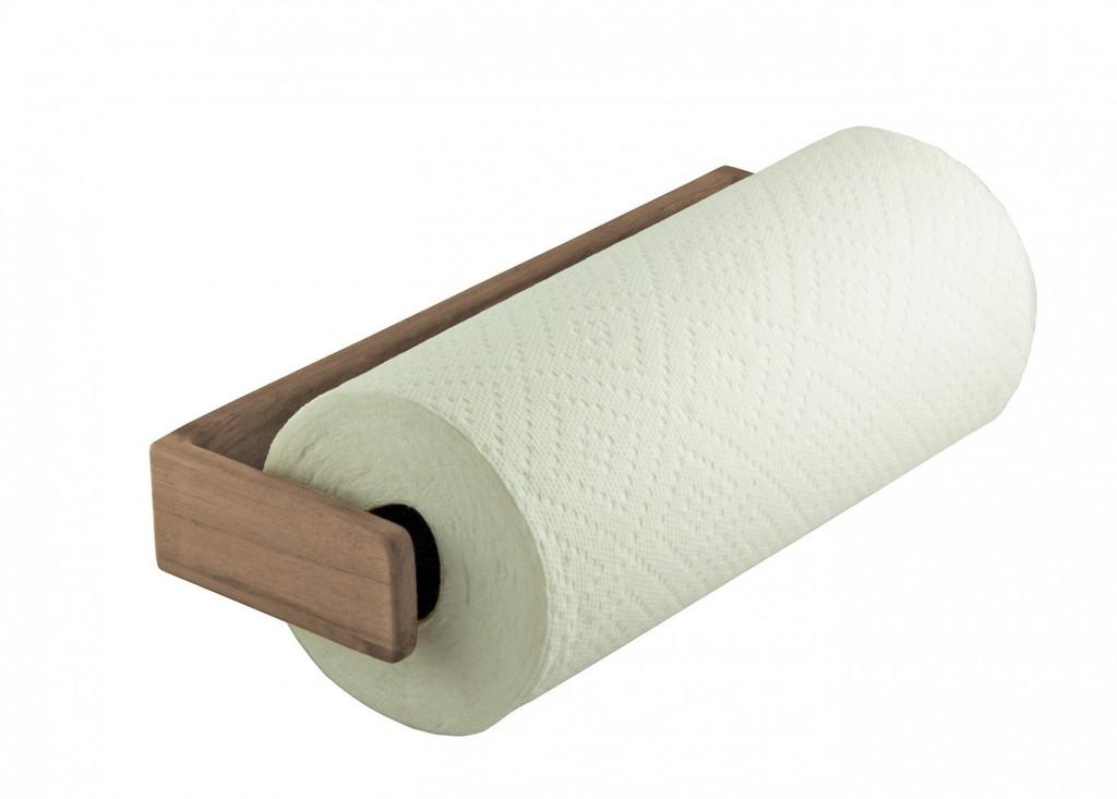 Teak Paper Towel Holder Wall Mount