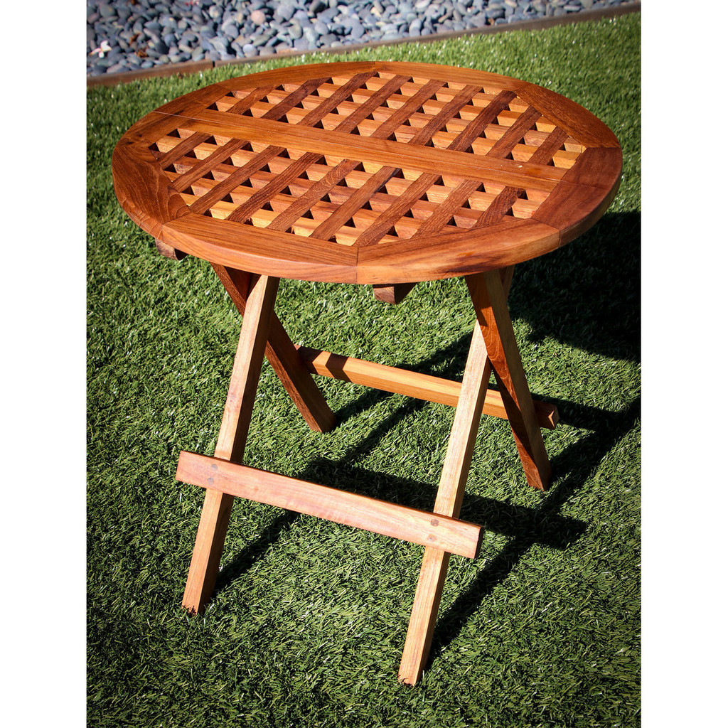 SeaTeak Round Folding Deck Table