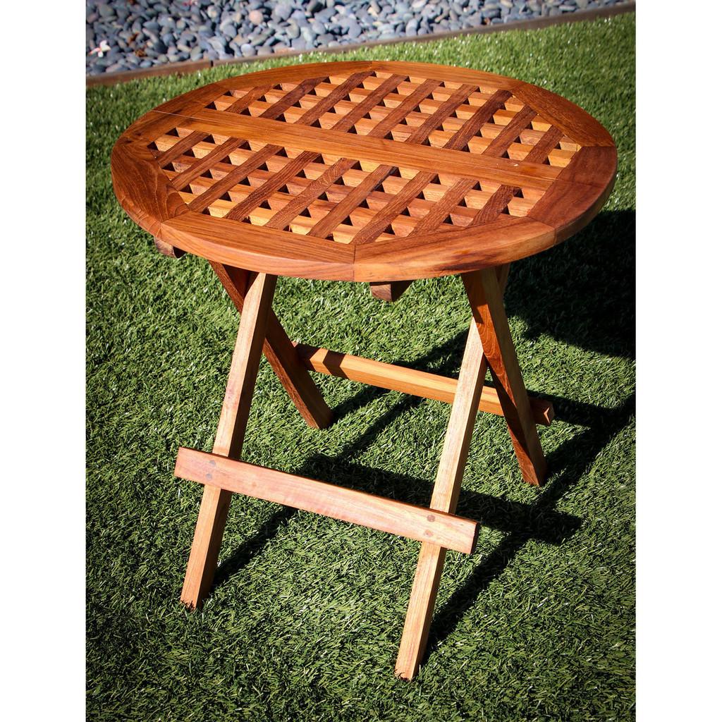 SeaTeak Round Folding Deck Table