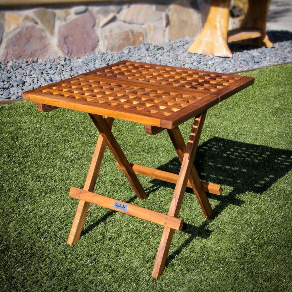 Teak Folding Deck Table