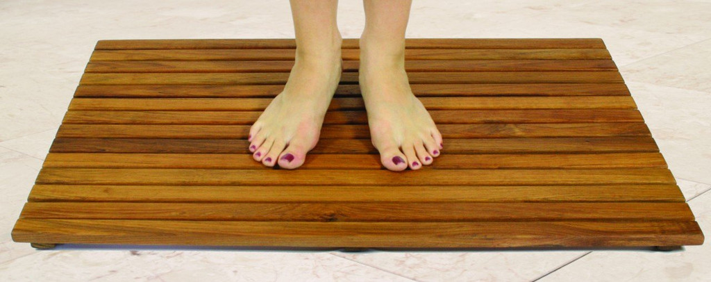 SeaTeak Teak Shower Mat, Oiled Finish