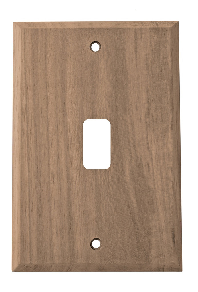 Teak Switch Plate, 2 pack