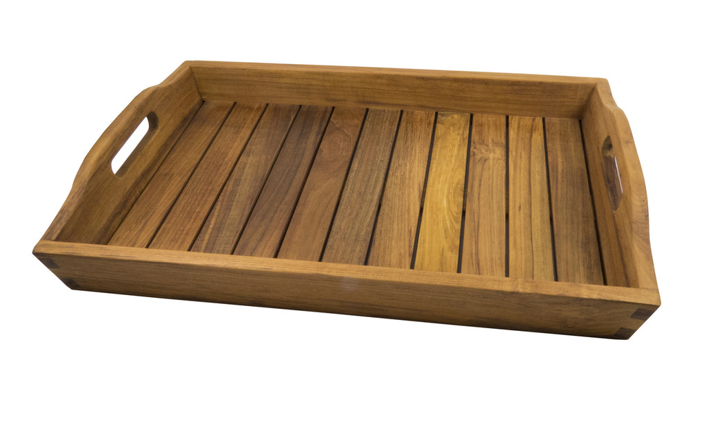SeaTeak Shower & Spa Tray-Oiled Finish
