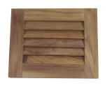 "Teak Louvered Insert 7-1/2""H (HORIZONTAL) (Part #60712)"