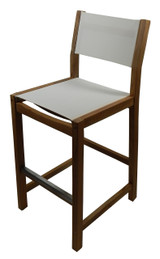 Dunes Bar Chair w/ White Durasling Fabric (Part #60070)