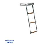 BKT73T Telescopic Ladder - 3 Teak Steps