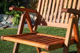 SeaTeak Avalon Folding Multi-Position Deck Chair w/arms- Oiled Finish (Part #60062)