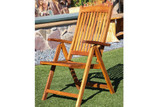 SeaTeak Avalon Folding Multi-Position Deck Chair w/arms- Oiled Finish (Part #60062)