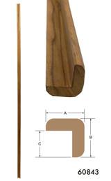 """Teak L-Molding Large 1-3/16"""" x 1-3/16"""" (Part #60843)"""