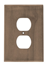 Teak Outlet Cover, 2 pack