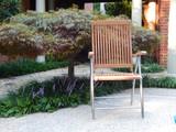 Windrift Folding 6-Position Teak Deck Armchair & Stainless Steel Legs
