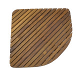 Teak Triangular Shower Mat Oiled Finish (Part # 60023)