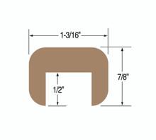 "Teak Cap Molding 1-3/16"" x 7/8"" Large"