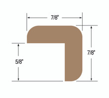 "Teak L-Molding Small 7/8' x 7/8"" (Part #60844)"