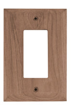 Teak GFI Duplex Outlet Cover, 2 pack
