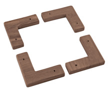 Teak Cooler/Box Chocks