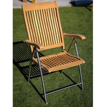 Teak Folding Deck Chair with SS legs