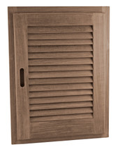 "Teak Louvered Door + Frame,  Oblong 15"" x 20"" (Right-hand opening)"