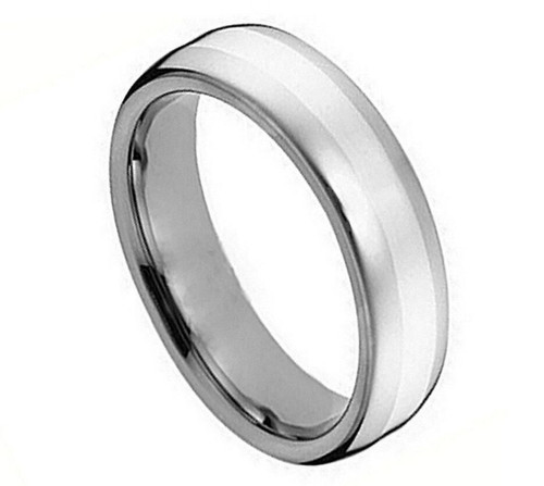 The Shadow Cobalt Polished Ring with Brushed Center from Vansweden Jewelers