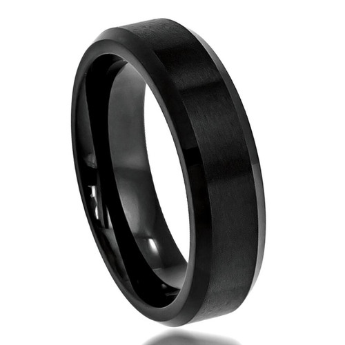 The Whisper Cobalt Ring with Black Brushed Enamel Plating from Vansweden Jewelers