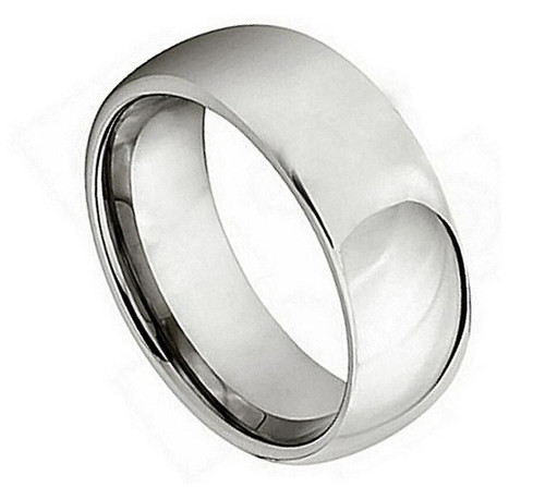 The Millennium Titanium Polished Domed Ring from Vansweden Jewelers