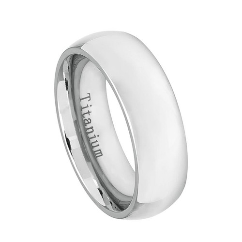 The Euphoria White Titanium Classic Domed Ring from Vansweden Jewelers