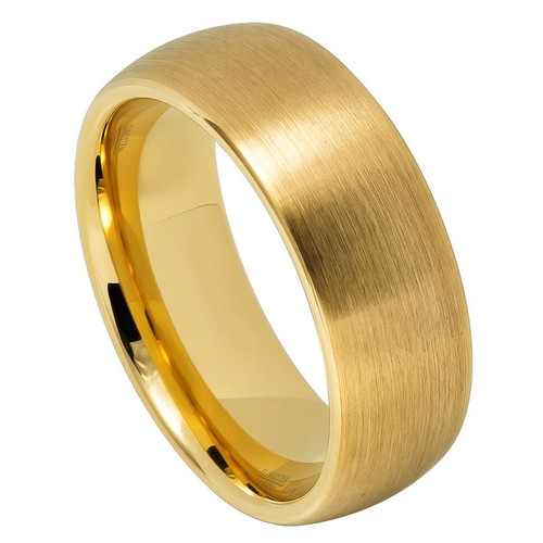 The Eternity Yellow Gold Ion Plated Tungsten Carbide Ring from Vansweden Jewelers