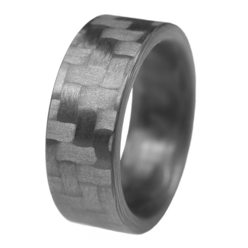 Integrate Carbon Fiber Men's Wedding Band
