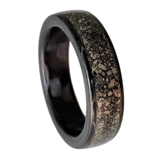Coax Pyrite Golden Carbon Fiber Wedding Band