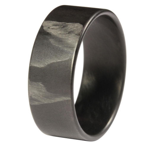 Ripple Extra Thin Carbon Fiber Wedding Band