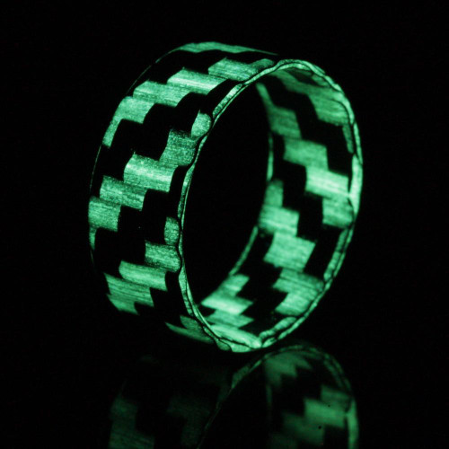 Splice Glow in the Dark Extra Thin Carbon Fiber Wedding Band