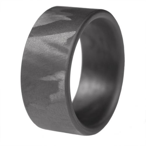 Scroll Carbon Fiber Wedding Band