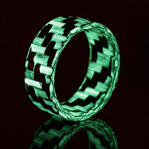 Create Glow in the Dark Carbon Fiber Wedding Band