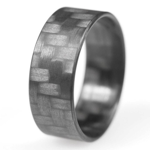 Entice Extra Thin Carbon Fiber Wedding Band