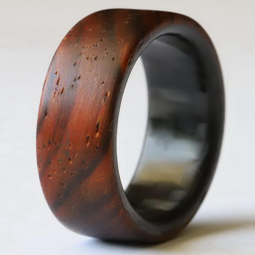 Whisk Walnut Wood and Carbon Fiber Wedding Band