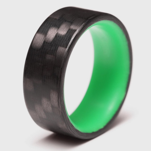 Shine Green Glow in the Dark Interior Carbon Fiber Wedding Band