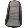 Empi 62-2613 Grey Vinyl Low Back Bucket Seat Cover. Dune Buggy Vw Baja Bug, Each
