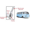 Empi 15-2028 Aluminum Side Step F/Bay Window Sliding Door Type 2 Vw Bus 1950-79