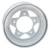 "Empi 10-1014 Vw Baja Bug 15X5  5 Lug White Steel Spoke Wheel 2-7/8"" Back Space"